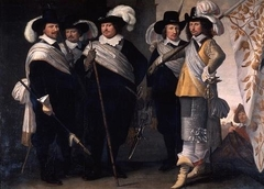 Portrait of the officers of the Witte Vendel of Delft