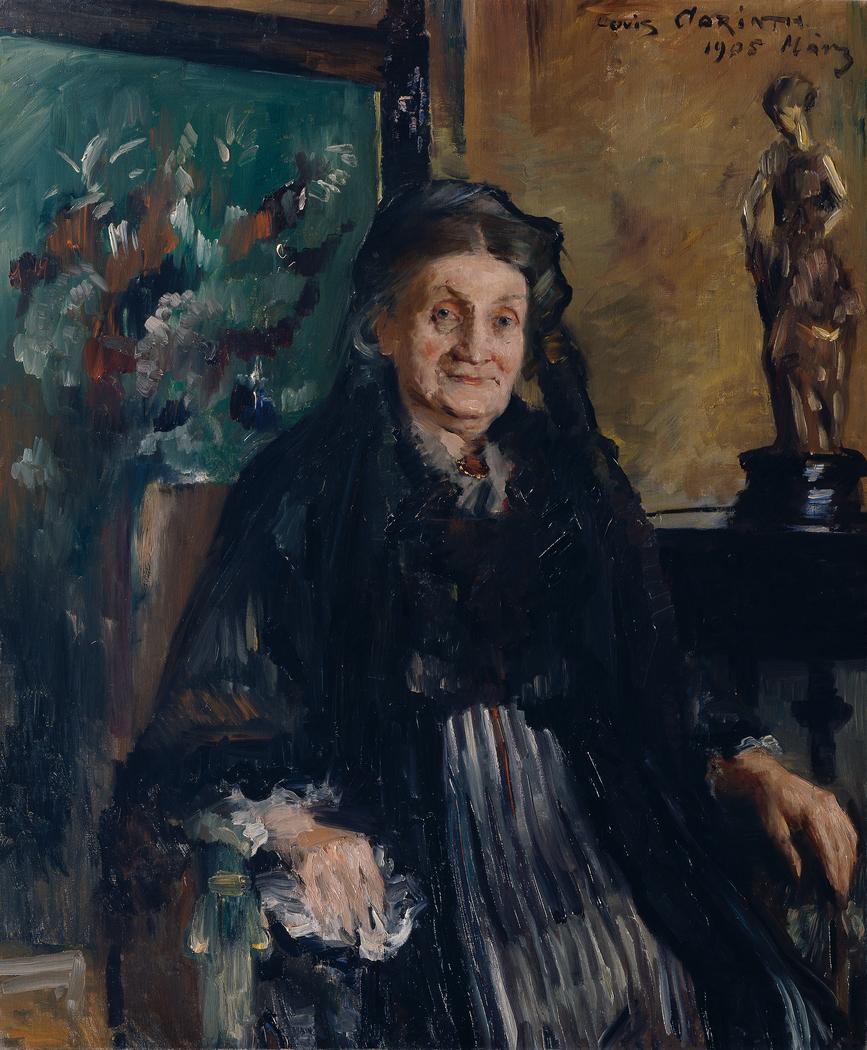 Porträt der alten Frau Moll