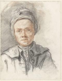 Portret van de tekenaar Jacob Cats