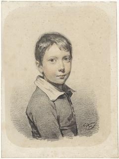 Portret van Gerardus Arnoldus Nicolaus Allebé als jongeman