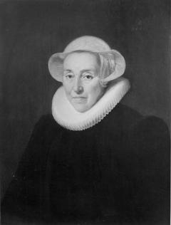 Portret van Margaretha van Dompselaar (1565/1566-1629), echtgenote van Jan van Mansvelt