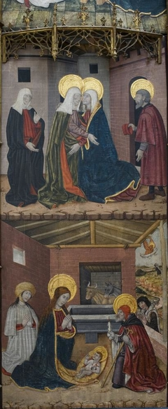 Retablo with Scenes from the Life of the Virgin -The Visitation and the Nativity of Christ