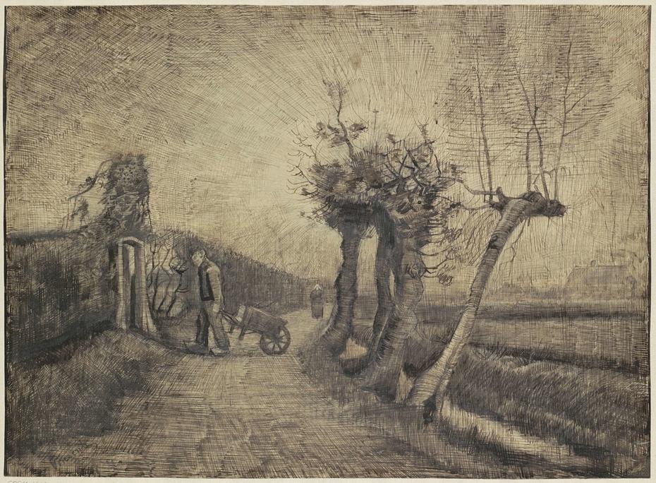 Road behind the Parsonage Garden in Nuenen