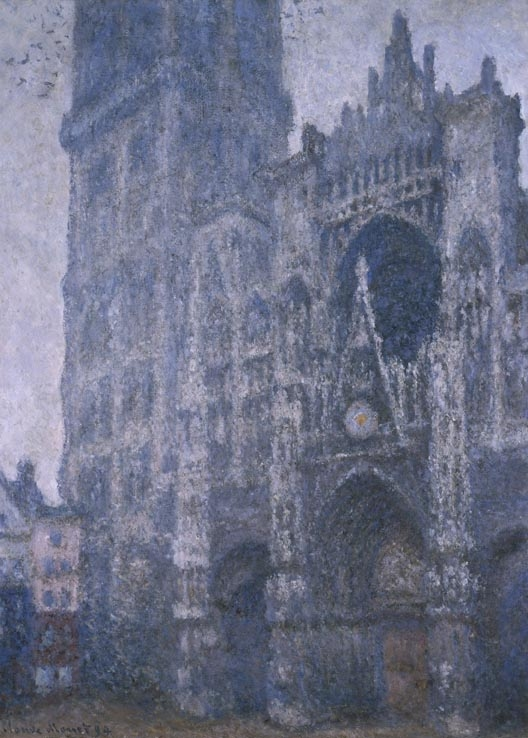 Rouen Cathedral, Portal and Tower d'Albane, Cloudy Weather