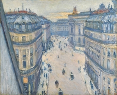 Rue Halévy, vue du sixième étage