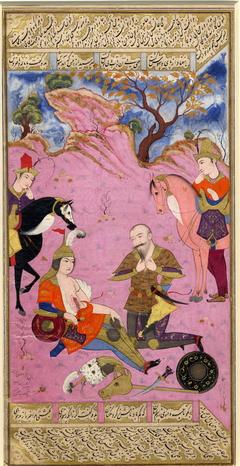 Rustam Mourns Suhrab (British Museum 1922,0711,0.2)