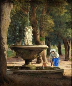 Scene from the Garden of the Villa Borghese in Rome