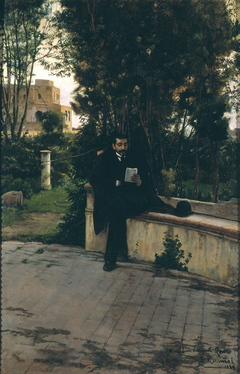 Senyor Quer in the Garden
