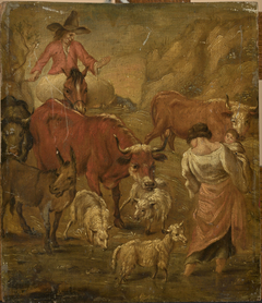 Shepherds with cattle