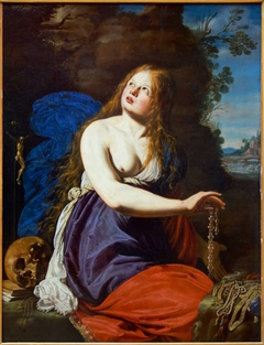 St. Mary Magdalene giving up the riches of this world