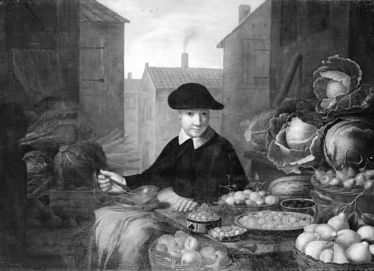Stall with Fruit and Vegetables