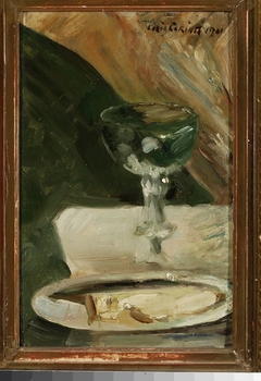 Still life with a chalice and a plate