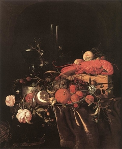 Still-Life with Fruit, Flowers, Glasses and Lobster