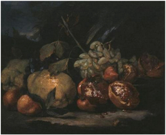 Still Life with White Grapes