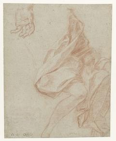 Studies voor het onderlichaam en benen en binnenzijde van hand van Hieronymus