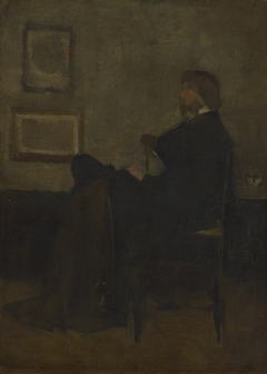 """Study for """"Arrangement in Grey and Black, No. 2: Thomas Carlyle"""""""