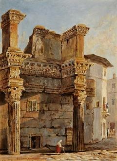Temple of Minverva in Forum of Nerva in Rome