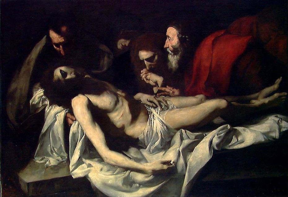 The Entombment. Copy after Ribera