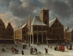 The old city hall of Amsterdam during winter