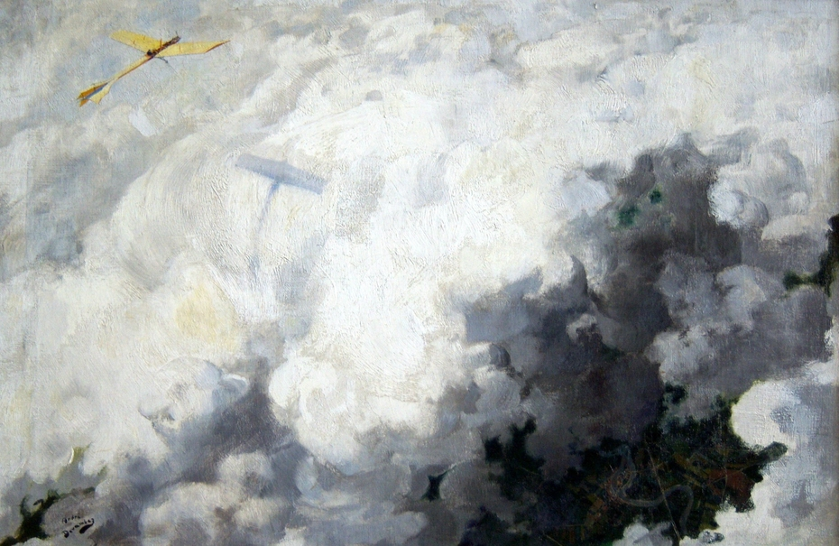 The Only Bird Flying Above Clouds