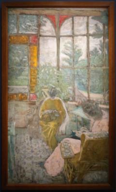 The veranda of Coadigou in Loctudy, Marcelle Aron and Marthe Mellot