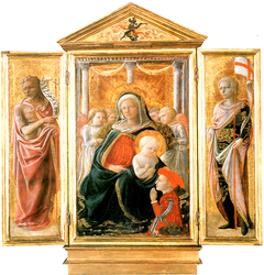Triptych of the Madonna of Humility with Angels and Donor