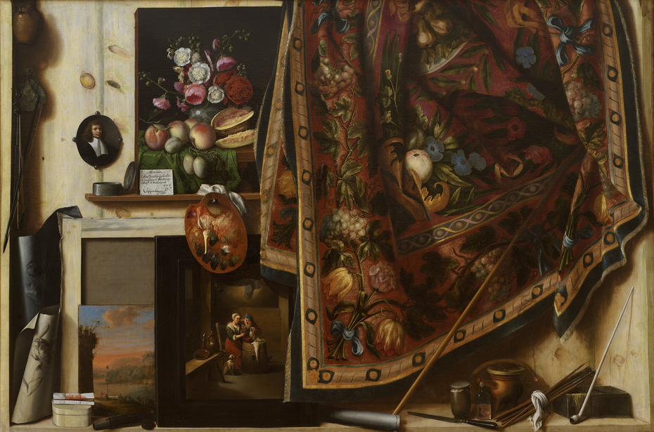 Trompe l'oeil. A Cabinet in the Artist's Studio