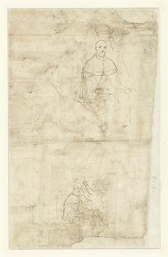 Twee schetsen van een kroning