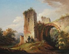 Two Huntsmen near Castle Ruin