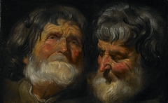 Two Studies of the Head of an Old Man