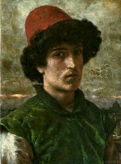 Portrait of a young Italian