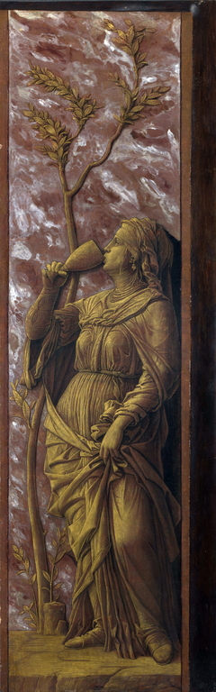 A Woman Drinking