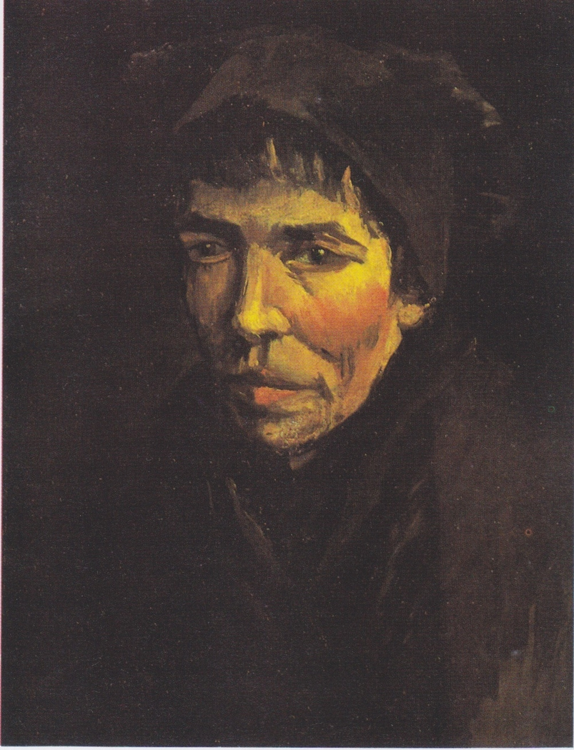 Head of a Peasant Woman with a dark hood