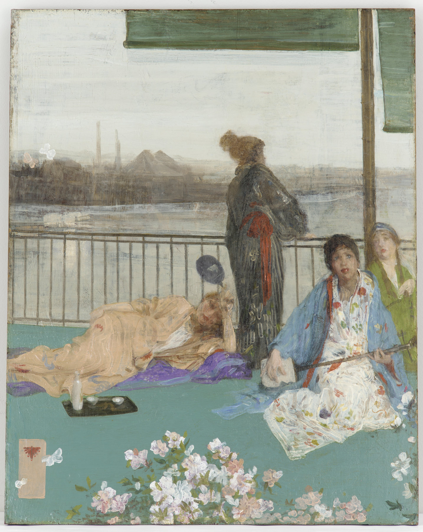 Variations in Flesh Colour and Green—The Balcony