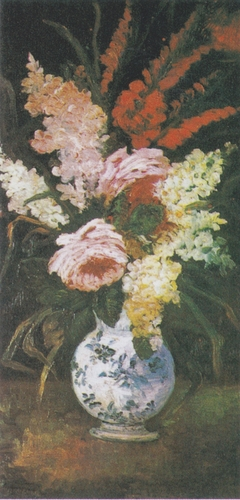 Vase with Gladioli and Lilac
