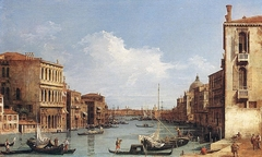 Venice: The Grand Canal from Campo San Vio towards the Bacino