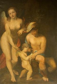 Venus with Mercury and Cupid ('The School of Love') (after Correggio)