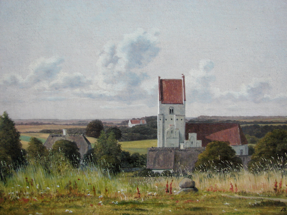 Vester Egede Church with Gisselfeld Monastery in the Background