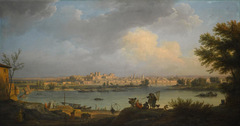 View of Avignon from the Right Bank of the Rhone near the Tour Philippe-le-Bel