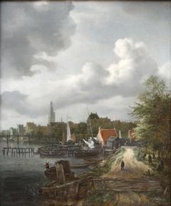 View of Binnen-Amstel in Amsterdam
