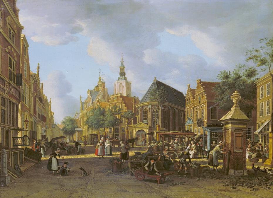 View of the Groenmarkt looking towards Westeinde in The Hague
