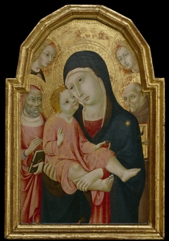 Virgin and Child with Saint Bernardino, Saint Jerome and Two Angels