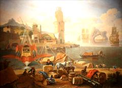 Vue d'un port méridional