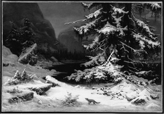 Winter in Norway (after Winter Landscape, copy after Georg Saal)