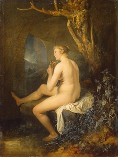 Woman Bather combing her Hair