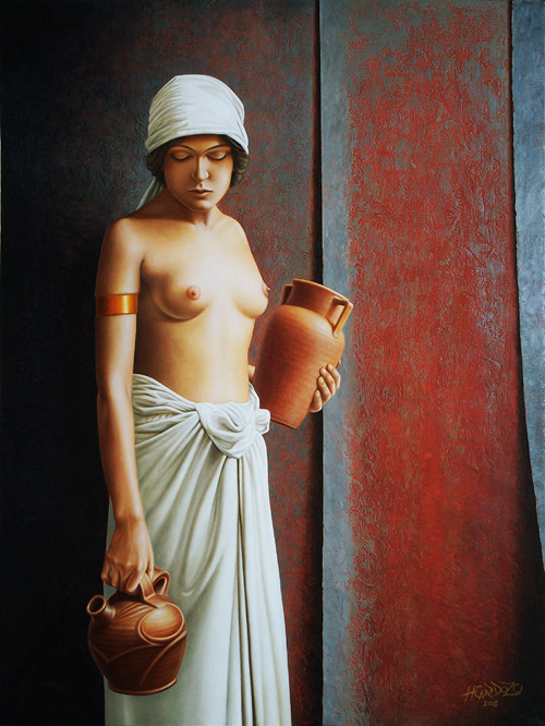 Woman Carrying Vases