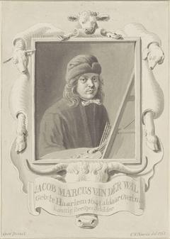 Zelfportret van de schilder Jacob Marcus van der Wal