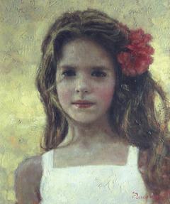 «Πορτρέτο κοριτσιού», 30 x 40 cm, oil on canvas.