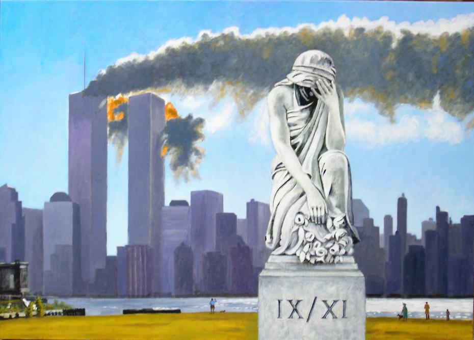 '9/11 Memorial' (2007), oil on linen, 140 x 100 cm.