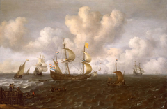 A Dutch Ship Before the Wind